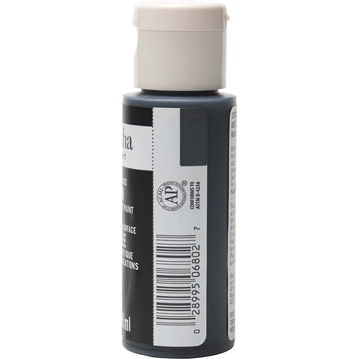 Martha Stewart ® Multi-Surface Satin Acrylic Craft Paint - Beetle Black, 2 oz.