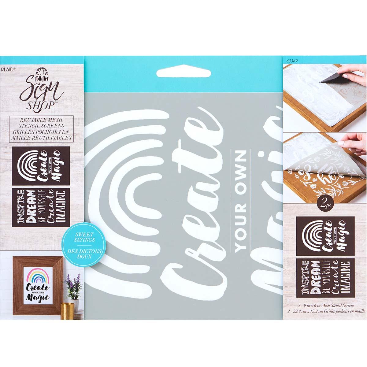FolkArt ® Sign Shop™ Mesh Stencil - Create Magic, 2 pc. - 63369