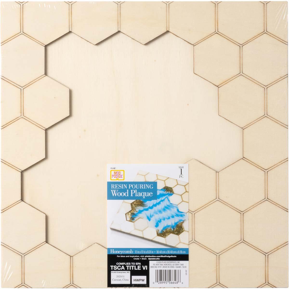 Mod Podge ® Resin Pouring Surface - Square Honeycomb Plaque - 56648E