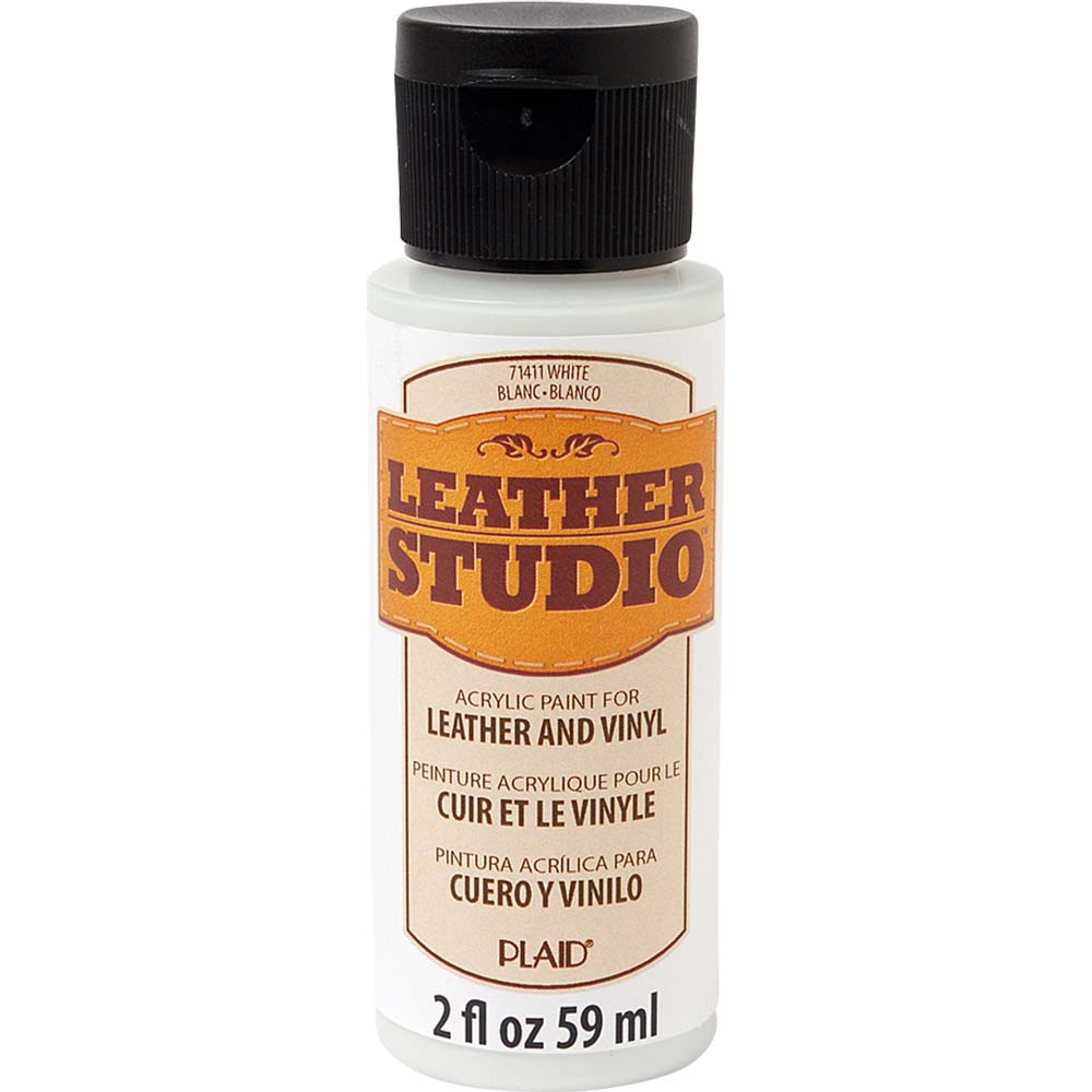 Leather Studio™ Leather & Vinyl Paint Colors - White, 2 oz. - 71411