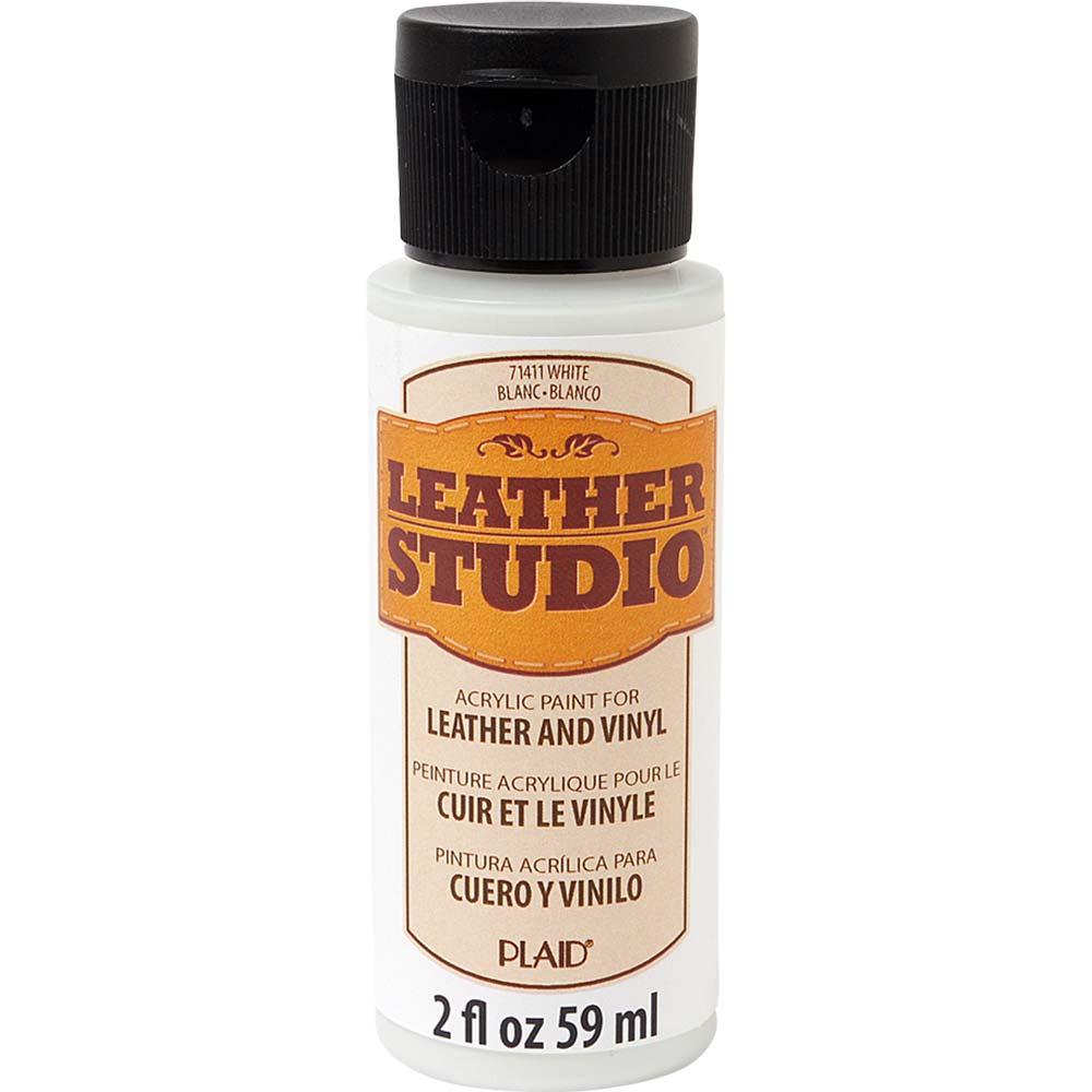 Leather Studio™ Leather & Vinyl Paint Colors - White, 2 oz.