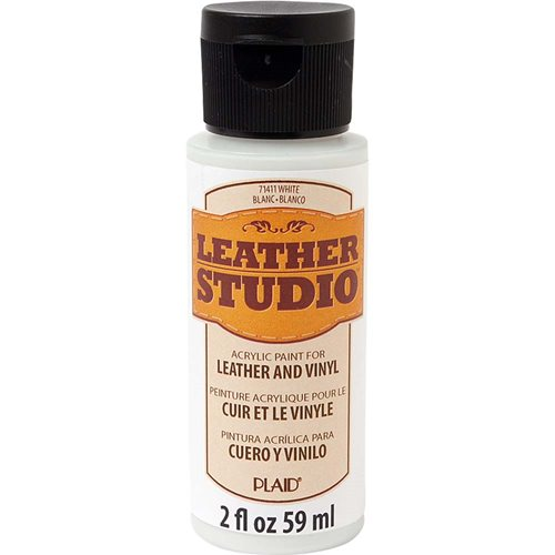 Leather Studio™ Leather & Vinyl Paint Colors - White, 2 oz.