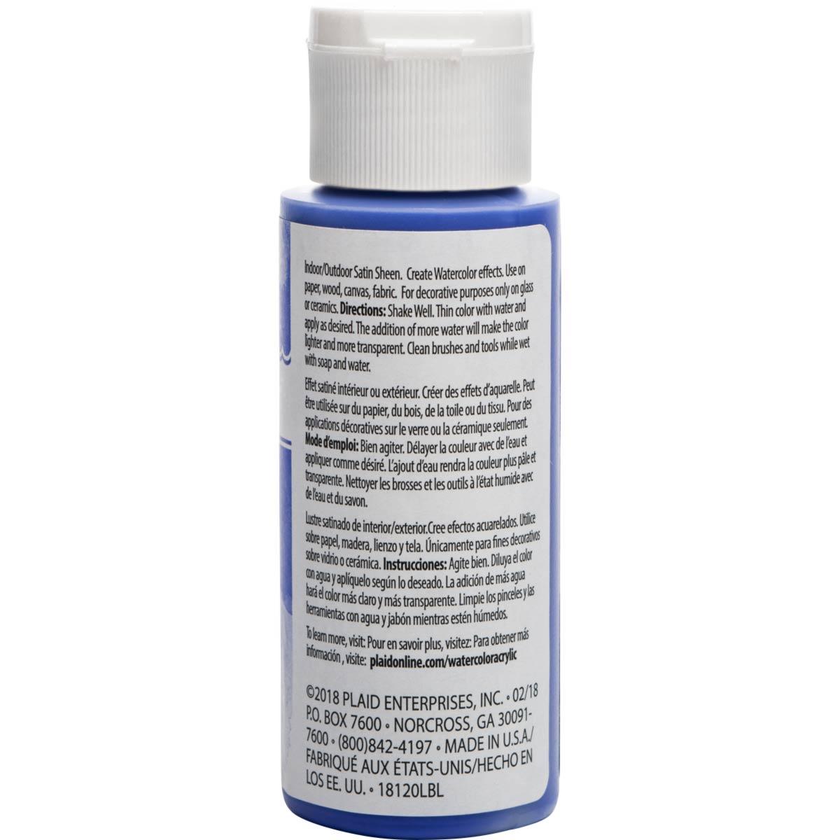 FolkArt ® Watercolor Acrylic Paint™ - Ultramarine, 2 oz.