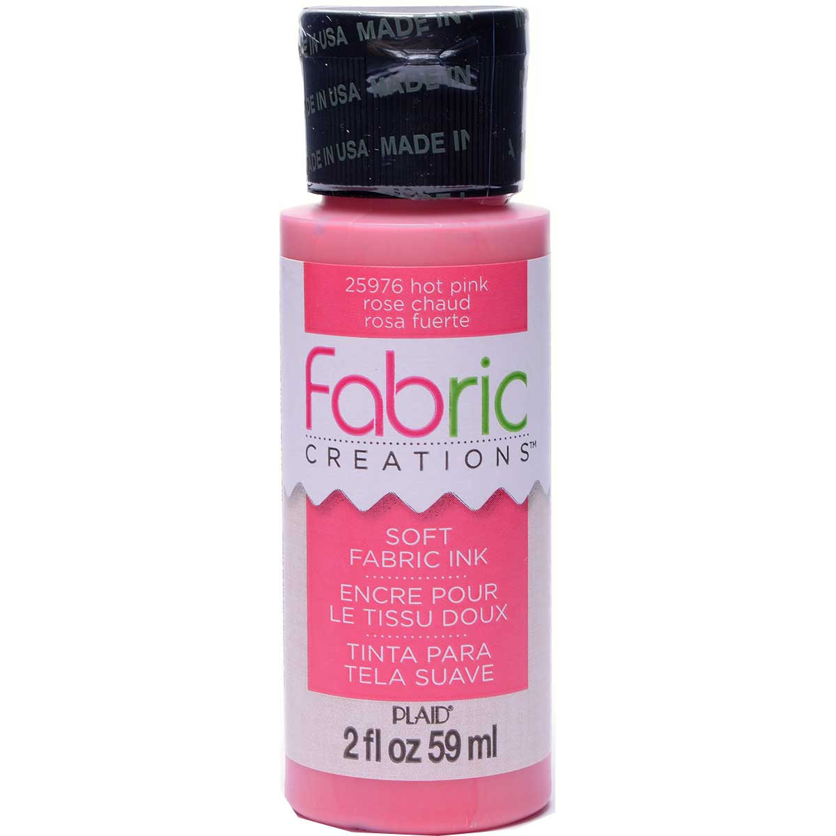 Fabric Creations™ Soft Fabric Inks - Hot Pink, 2 oz. - 25976