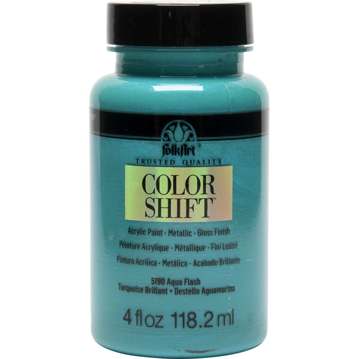 FolkArt ® Color Shift™ Acrylic Paint - Aqua Flash, 4 oz. - 5190