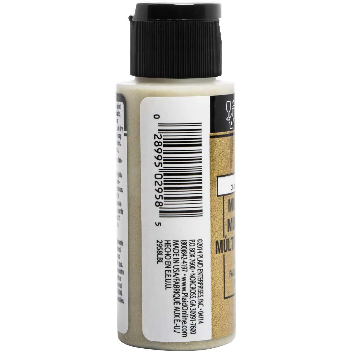 FolkArt ® Multi-Surface Glitter Acrylic Paints - Glam Gold, 2 oz.