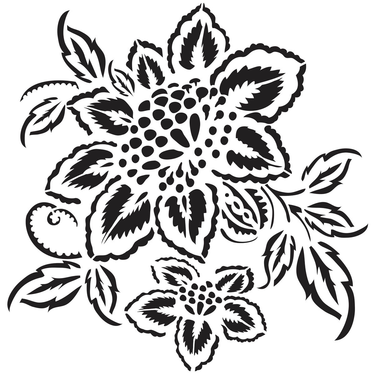 Waverly ® Inspirations Laser Stencils - Décor - Floral, 12