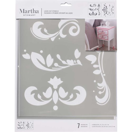 Martha Stewart® Laser-Cut Stencil - Scroll