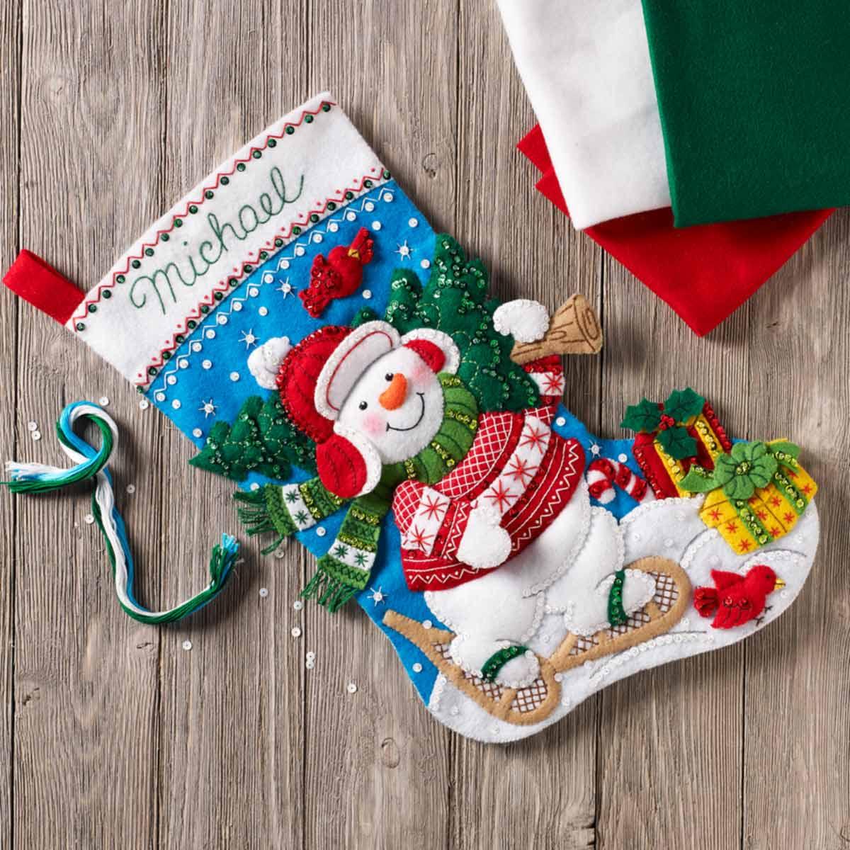 Bucilla ® Seasonal - Felt - Stocking Kits - Nordic Snowman