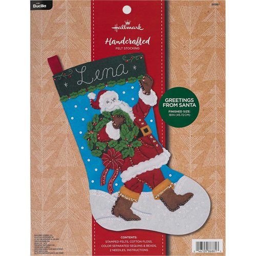 Bucilla ® Seasonal - Felt - Stocking Kits - Hallmark - Greetings From Santa