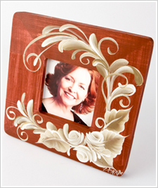 Scrolls & Roses Stained Frame