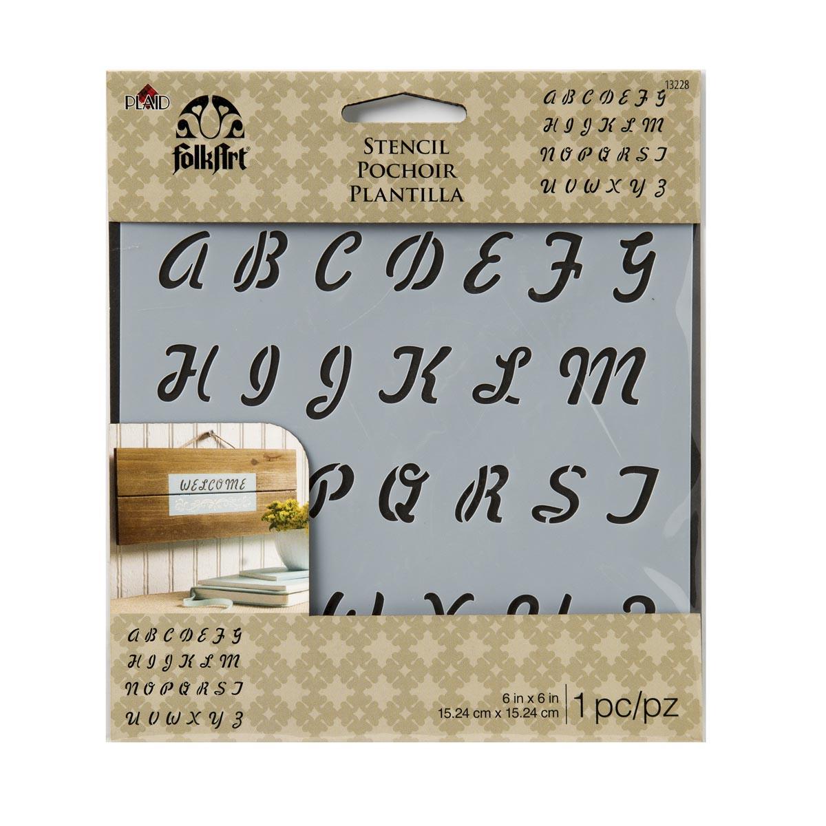 FolkArt ® Painting Stencils - Small - Romantic Script