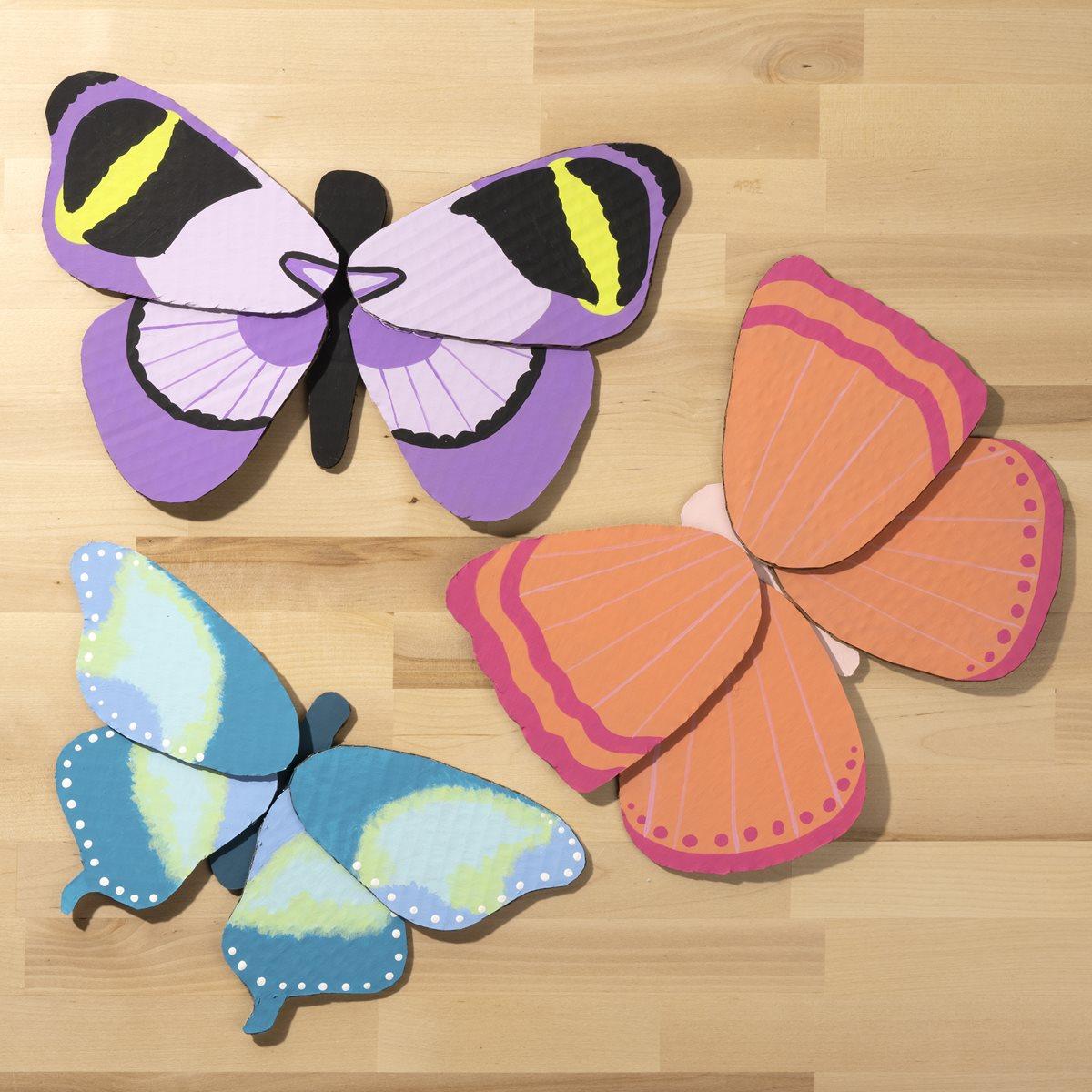 Cardboard Butterflies