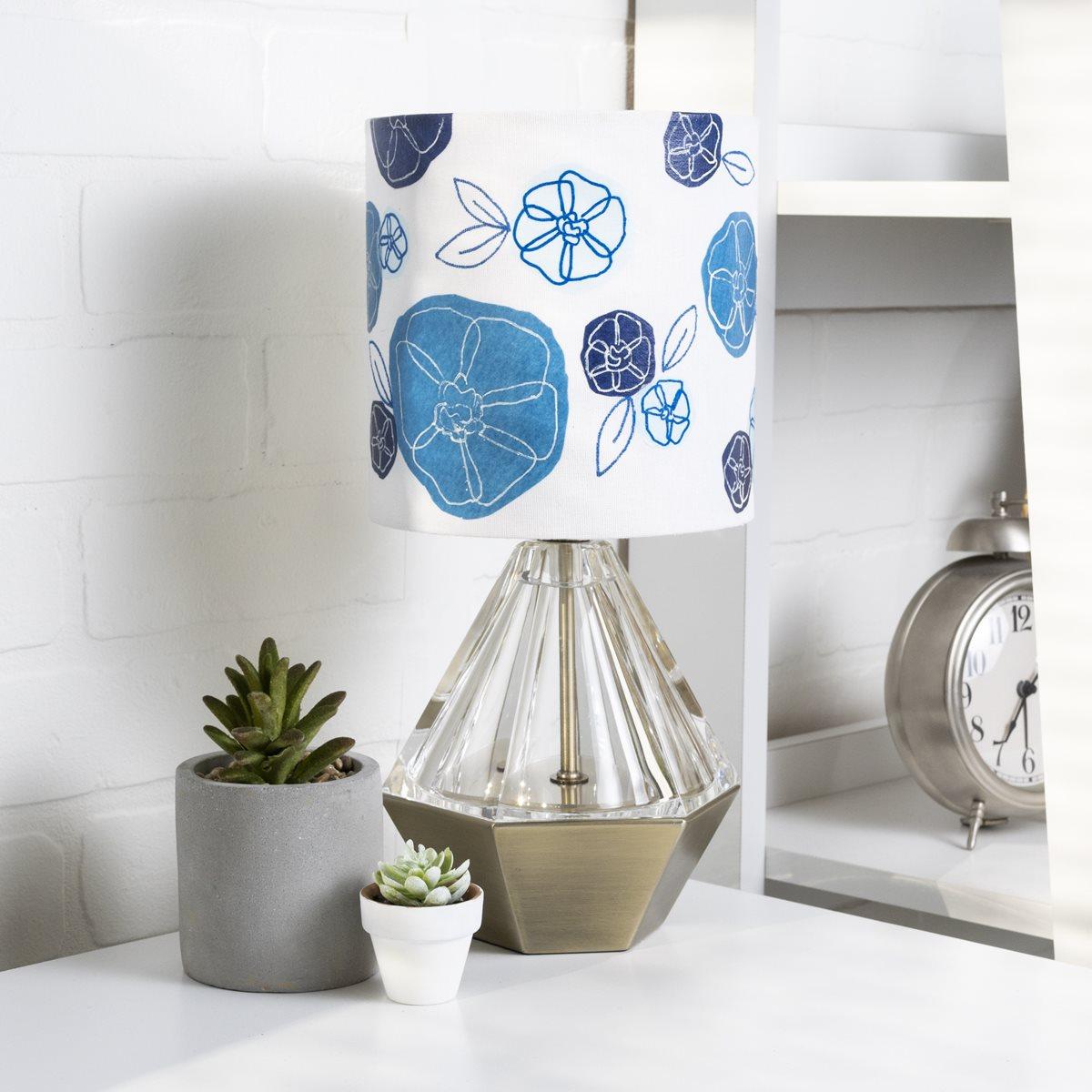 Mod Podge Tissue Paper Flower Lamp