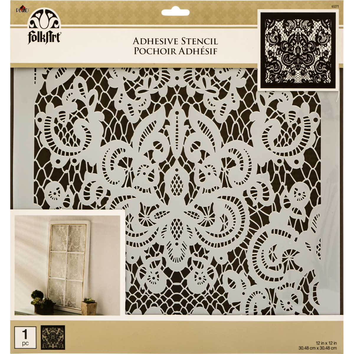 FolkArt ® Painting Stencils - Adhesive Laser - Delicate Lace