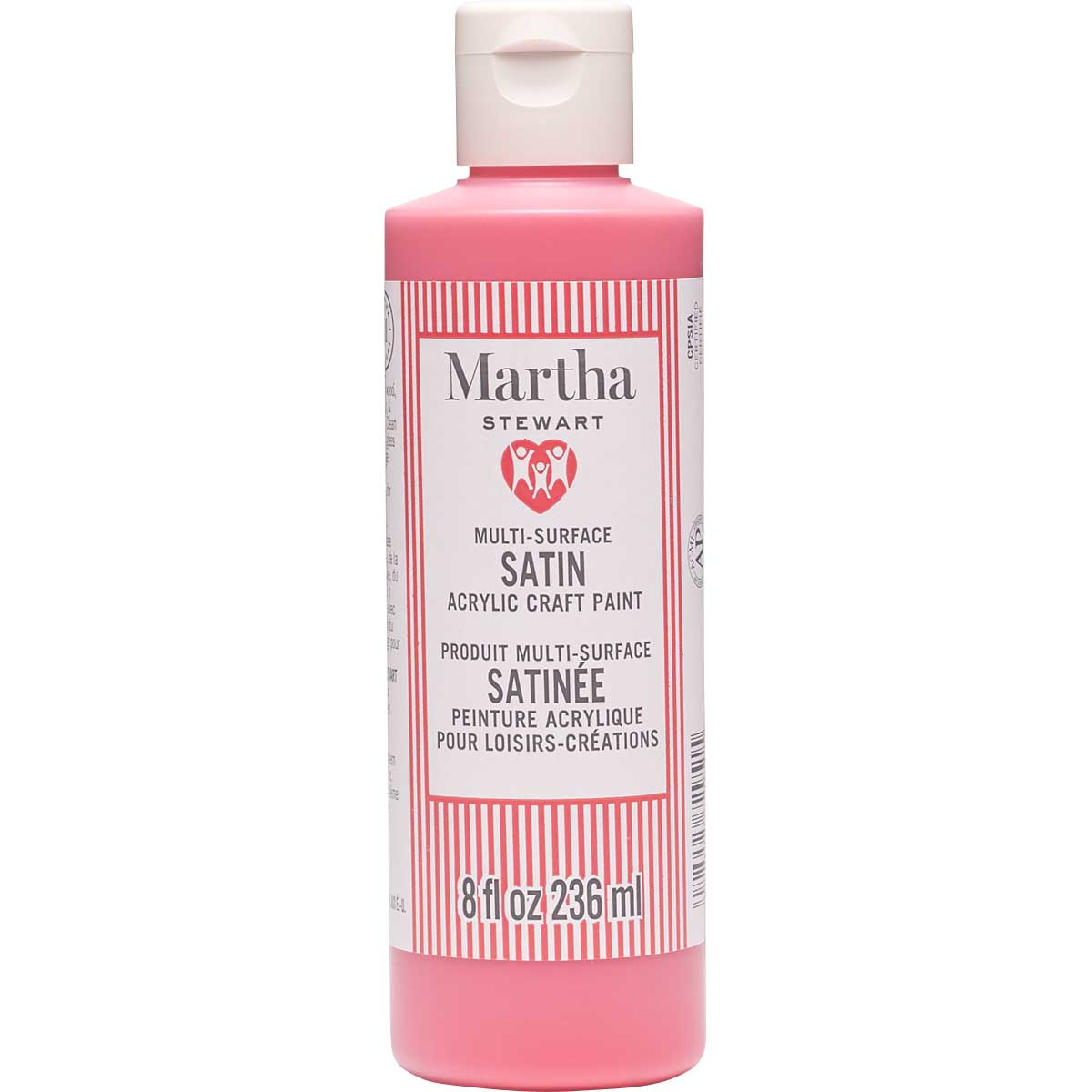 Martha Stewart ® Multi-Surface Satin Acrylic Craft Paint CPSIA - Stop Sign Red, 8 oz. - 72951