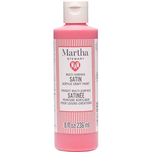 Martha Stewart® 8oz Multi-Surface Satin Acrylic Craft Paint - Stop Sign Red