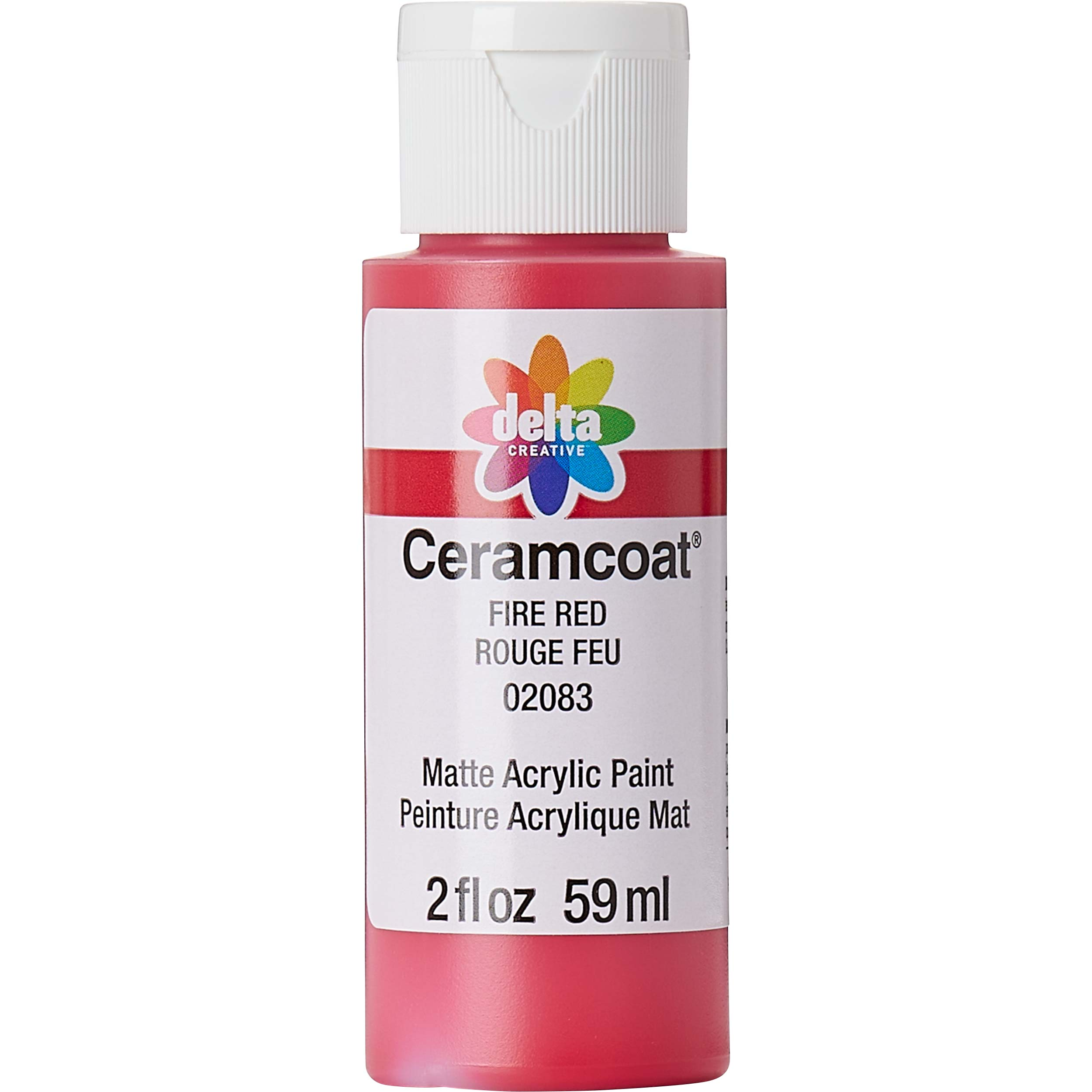Delta Ceramcoat ® Acrylic Paint - Fire Red, 2 oz.
