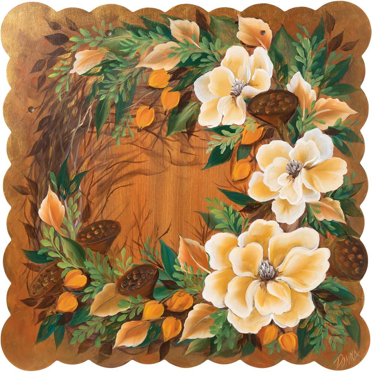 Warm Magnolias Wreath