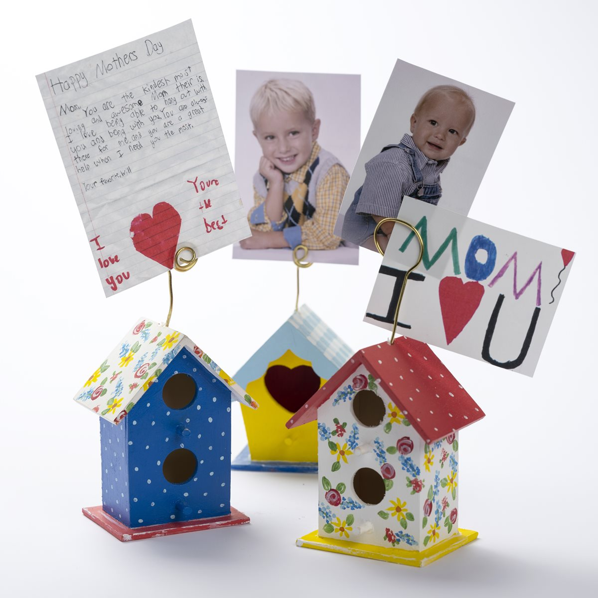 Bird House Photo Stands for Mother's Day