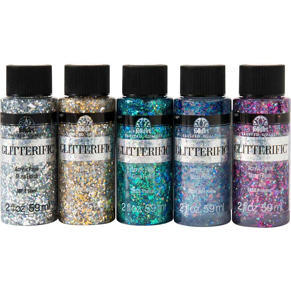 FolkArt ® Glitterific™ Glam Basics 5 Color Set