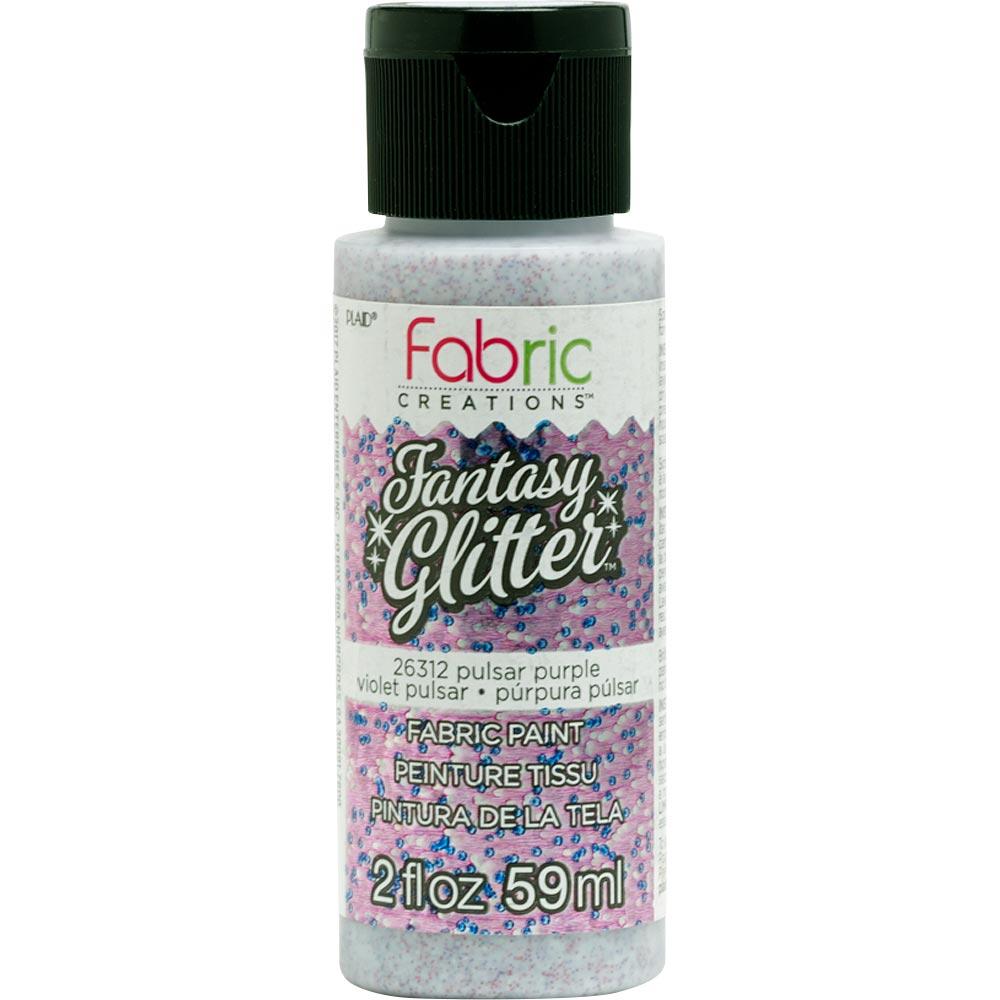 Fabric Creations™ Fantasy Glitter™ Fabric Paint - Pulsar Purple, 2 oz. - 26312
