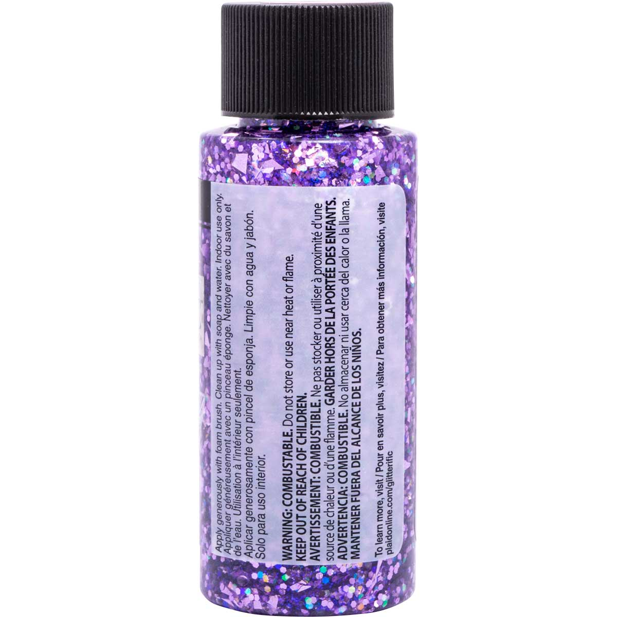 FolkArt ® Glitterific™ Acrylic Paint - Purple, 2 oz.