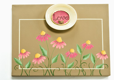 Love Flower Canvas