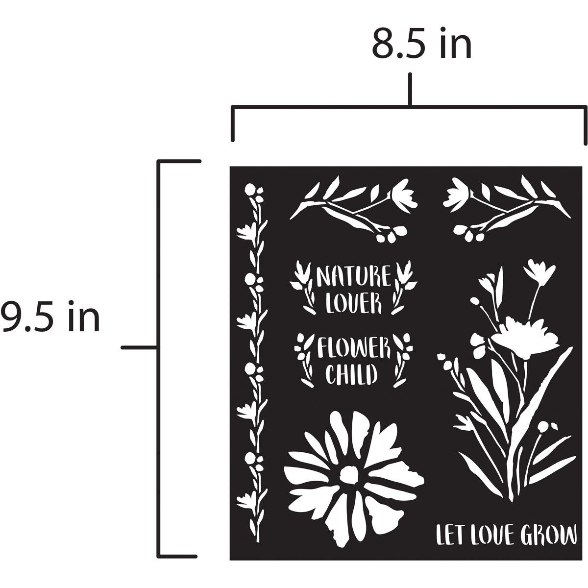 FolkArt ® Laser Cut Adhesive Stencils - Wildflowers