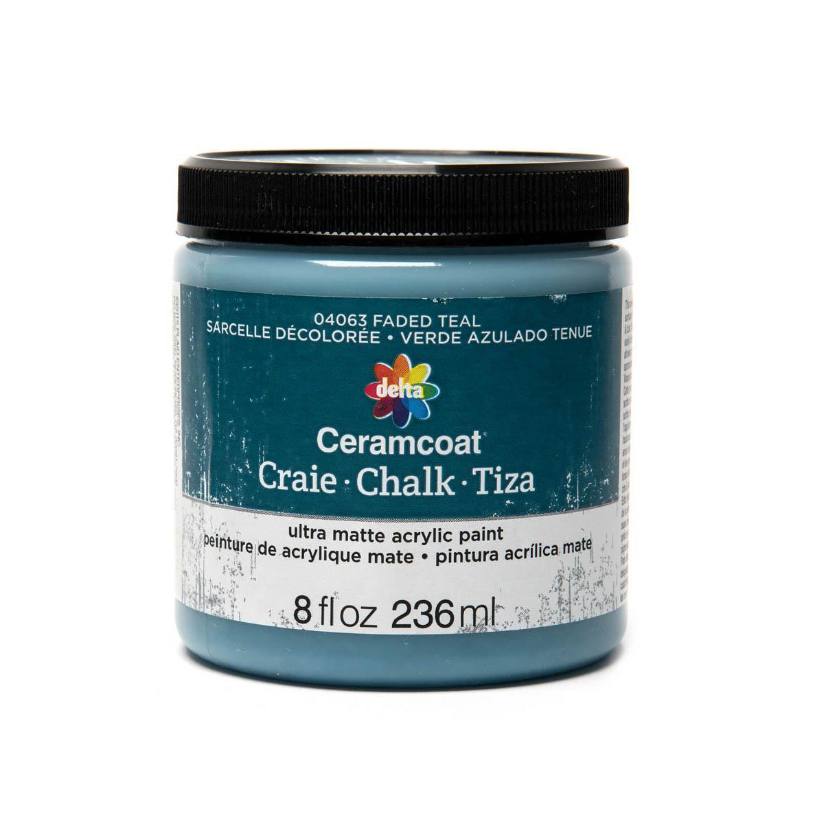 Delta Ceramcoat ® Chalk - Faded Teal, 8 oz.