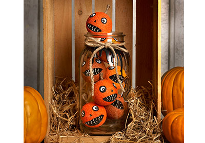 FolkArt Multi-Surface Jar of Jack-O-Lanterns