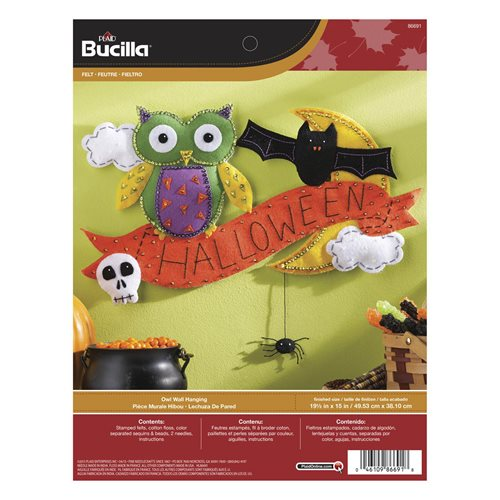 Bucilla ® Seasonal - Felt - Home Decor - Door/Wall Hanging Kits - Halloween Owl
