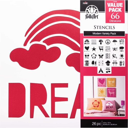 "FolkArt ® Stencil Value Packs - Modern Variety, 12"" x 12"" - 71974E"