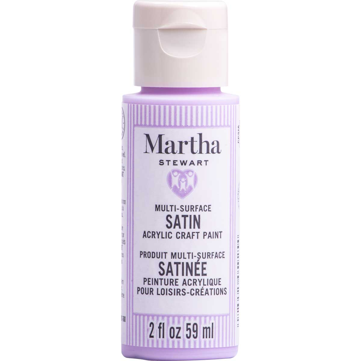 Martha Stewart ® Multi-Surface Satin Acrylic Craft Paint CPSIA - Moonstone Purple, 2 oz. - 5925