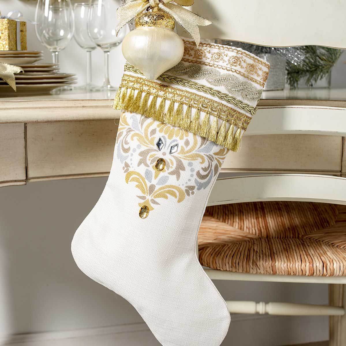 DIY Ornate Gold Stocking