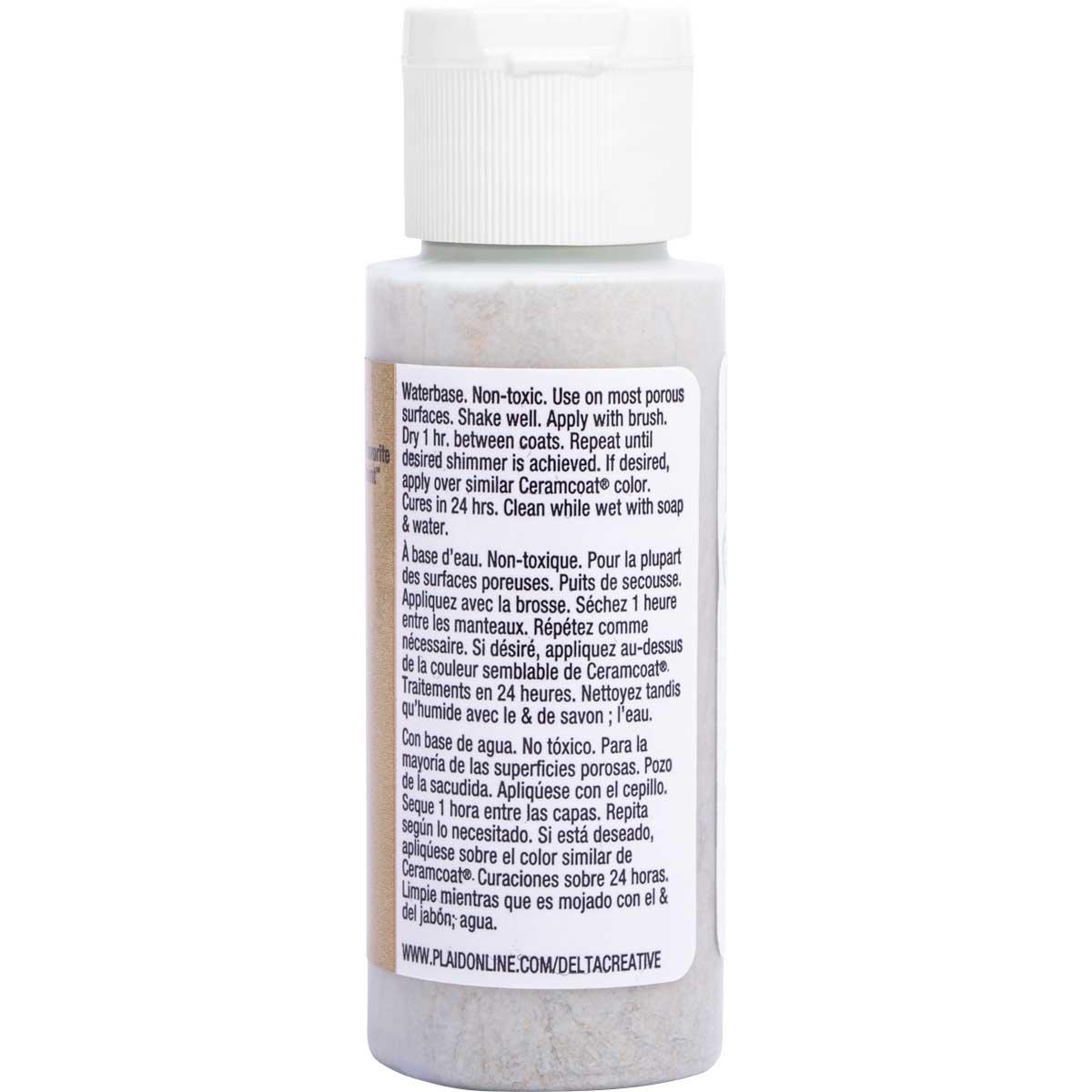 Delta Ceramcoat ® Acrylic Paint - Glitter Gold, 2 oz. - 03010