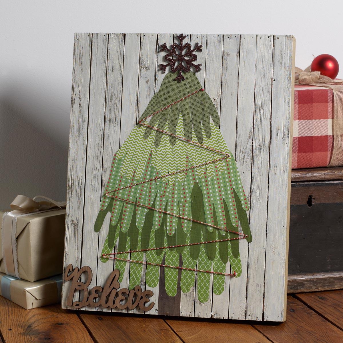 Kids Handprint Christmas Tree Craft Project