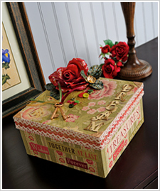 Romantic Altered Art Box