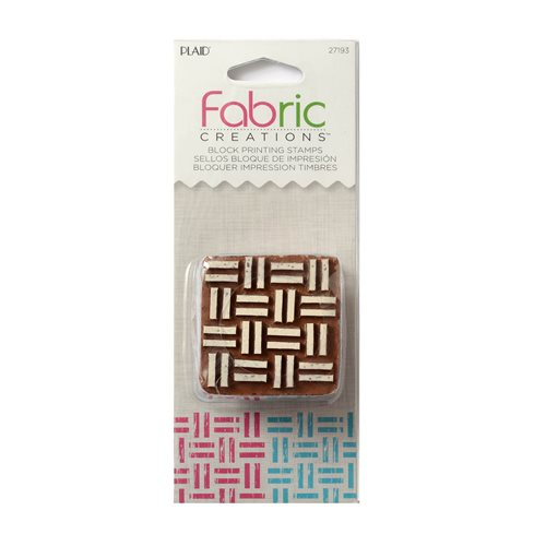 Fabric Creations™ Block Printing Stamps - Small - Basket Weave