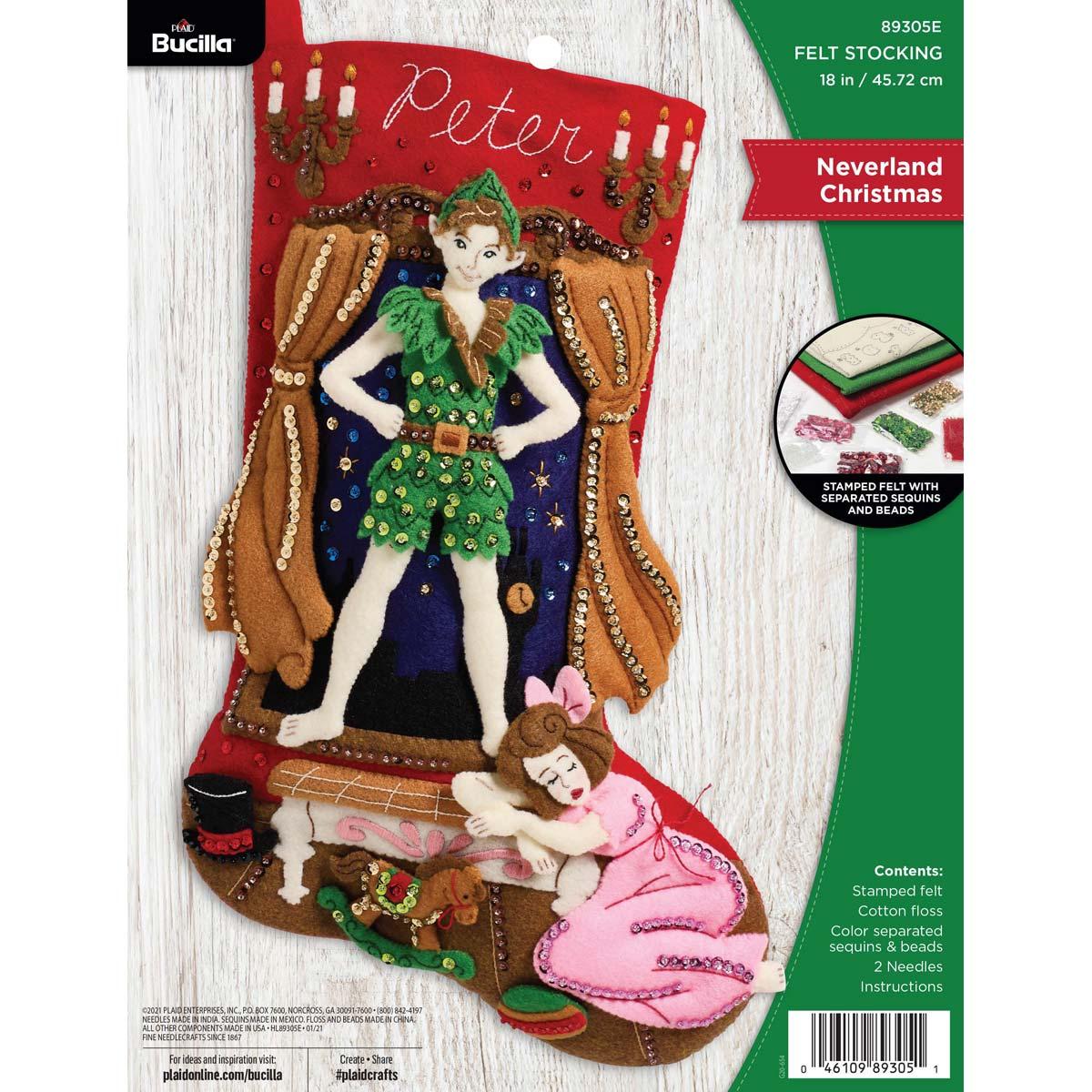 Bucilla ® Seasonal - Felt - Stocking Kits - Neverland Christmas - 89305E
