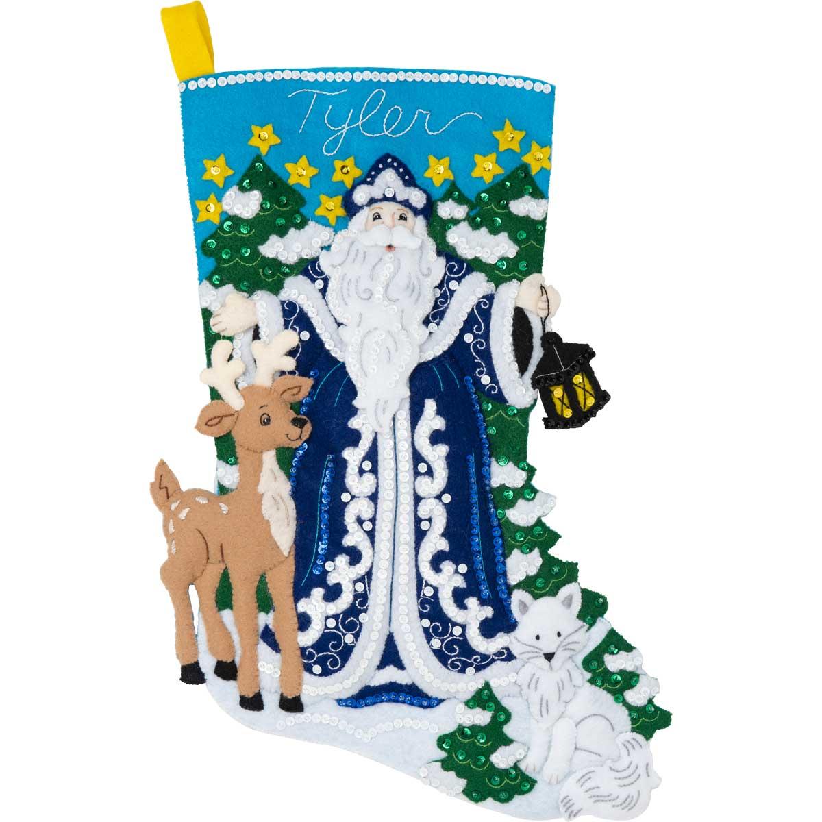 Bucilla ® Seasonal - Felt - Stocking Kits - Winter Santa - 86935E