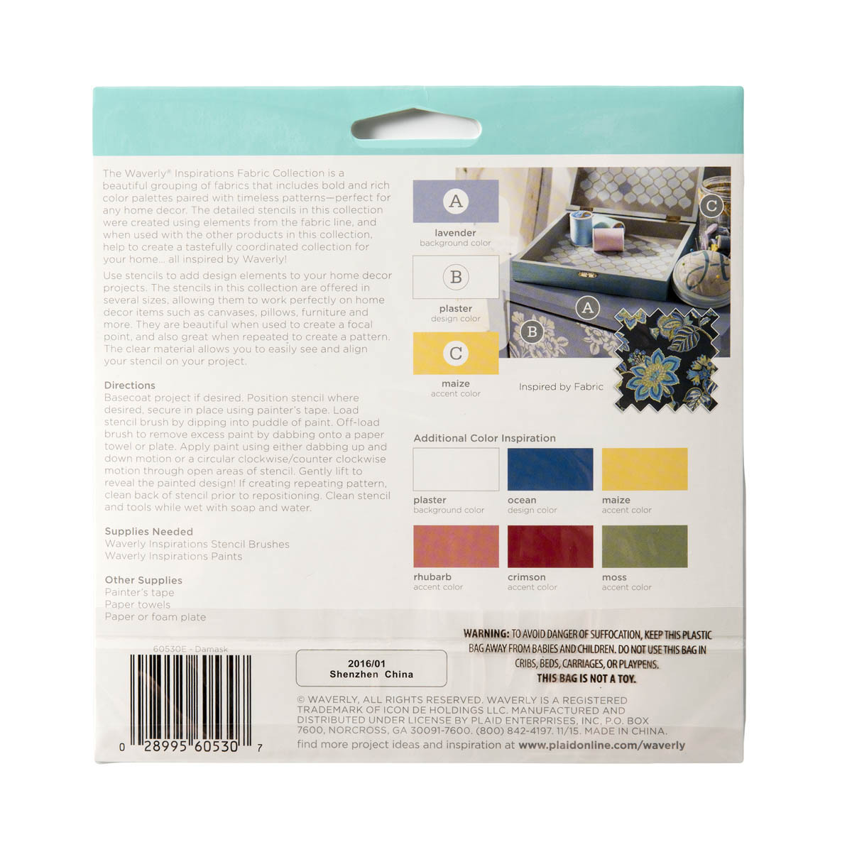 Waverly ® Inspirations Laser Stencils - Accent - Damask, 6