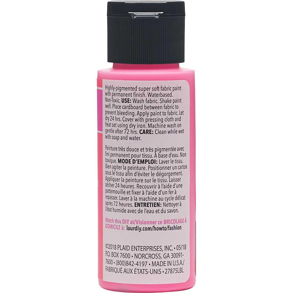 LaurDIY ® Perfect Fabric Paint - Flamingo, 2 oz. - 27875