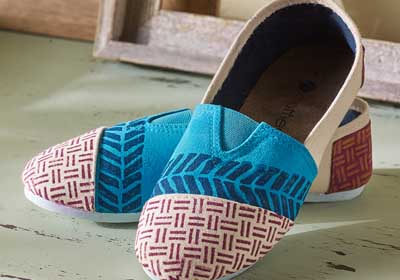 Funky Stamped Fabric Canvas Shoes