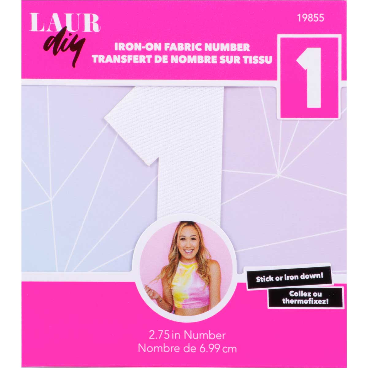 LaurDIY ® Iron-on Fabric Letters - 1 - 19855