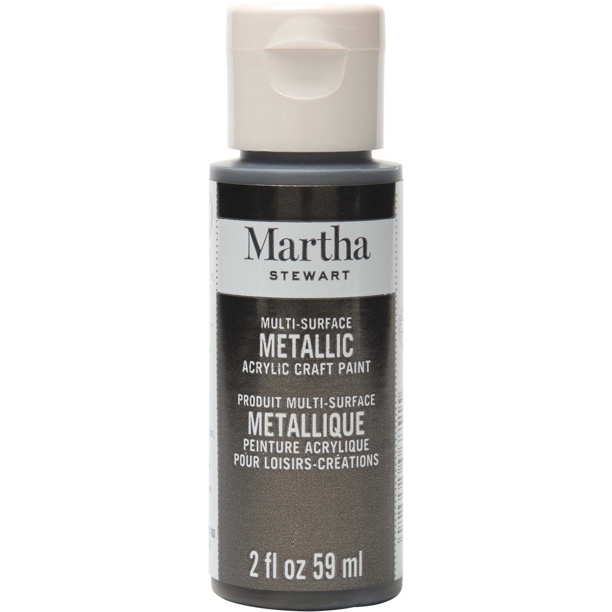 Martha Stewart® 2oz Multi-Surface Metallic Acrylic Craft Paint - Gunmetal