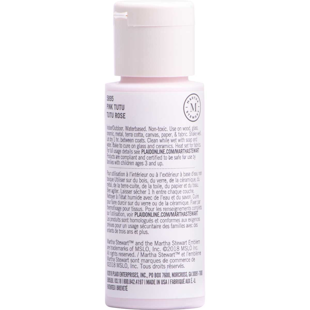 Martha Stewart ® Multi-Surface Satin Acrylic Craft Paint CPSIA - Pink Tutu, 2 oz. - 5895