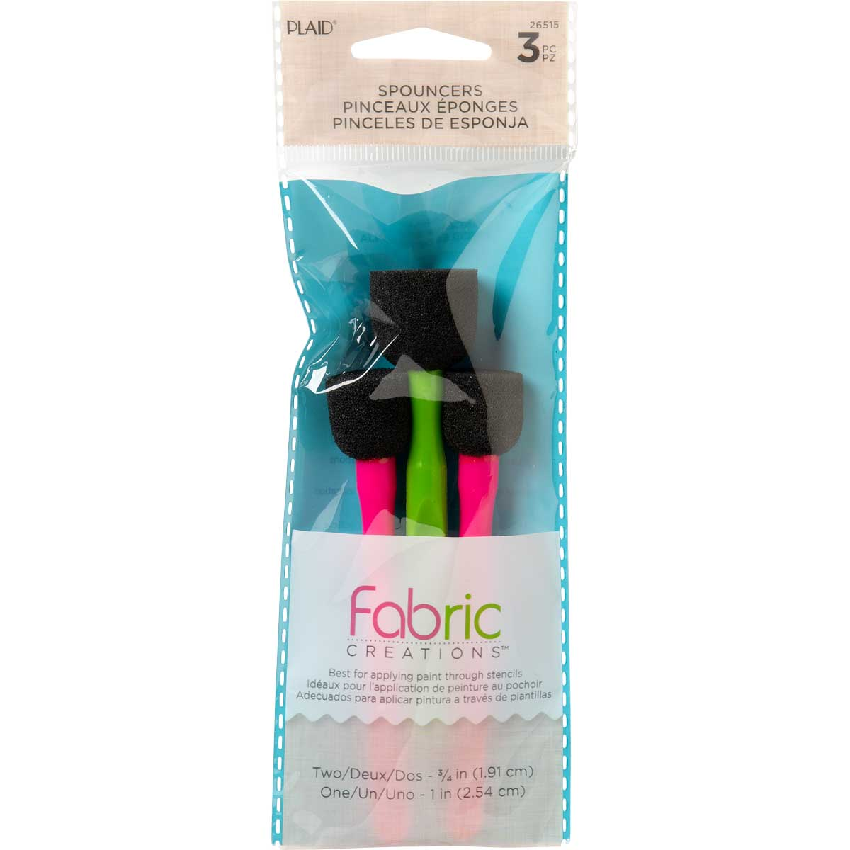 Fabric Creations™ Fabric Painting Tools - Spouncer Set, 3 piece