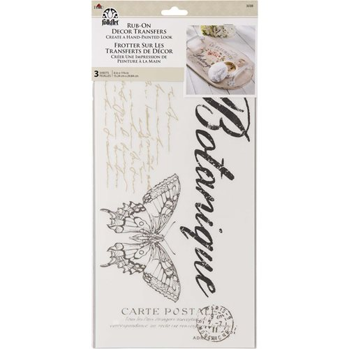 FolkArt ® Rub-On Décor Transfer - Le Fleuriste, 3 pc. - 36108