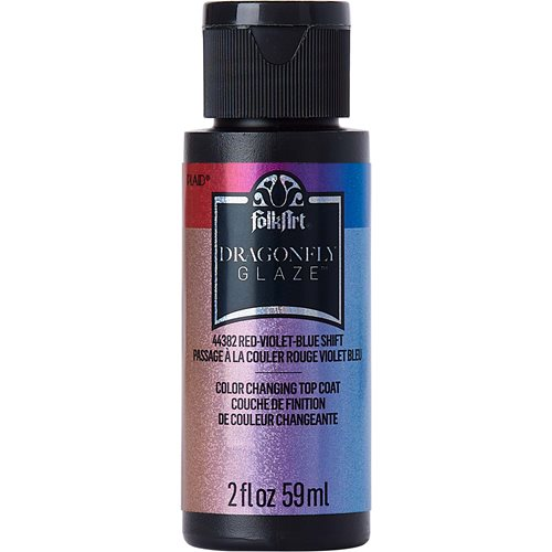 FolkArt ® Dragonfly Glaze™ - Red-Violet-Blue, 2 oz.